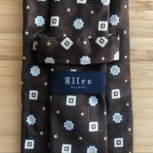 Altea Brown & Tan Silk Neck Tie
